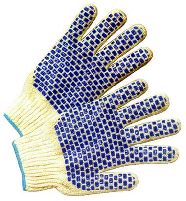 Cotton Knit Glove w/ PVC Blocks Pic 1