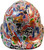 Route 66 Sticker Bomb Hydro Dipped Hard Hats, Cap Style ~ Front View