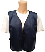 Navy Blue Soft Mesh Plain Safety Vest Main