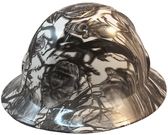 Skull Family Tree Hydro Dipped Hard Hats Full Brim Style ~ Oblique View