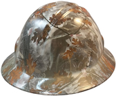 Winter Camo Hydro Dipped Hard Hats Full Brim Style Design ~ Oblique View