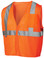 Pyramex Class 2 Self Extinguishing Mesh Hi-Vis Orange Safety Vests w/ Silver Stripes ~ Front View