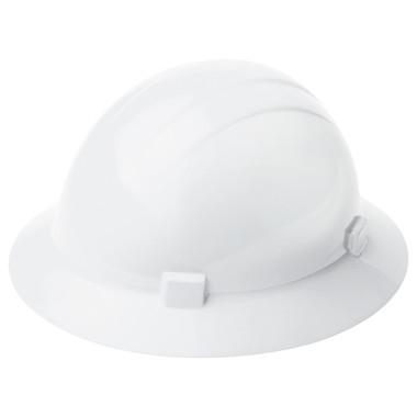 ERB Type II Full Brim Americana Hard Hat with Ratchet Suspensions ~ Oblique View