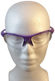 ERB Ella Safety Glasses with Purple Frame and Clear Lens ~ Front View