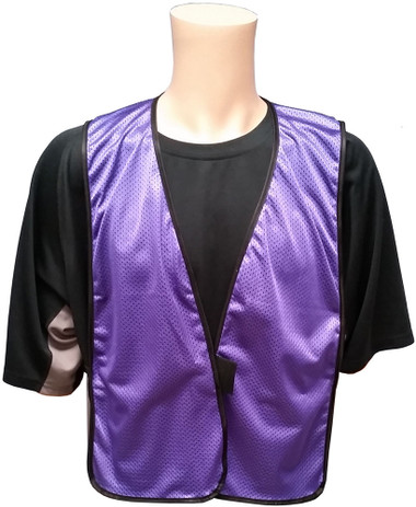 Soft Mesh Purple Safety Vests ~ Front View