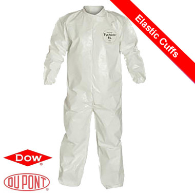 Tyvek Saranex SL Coverall w/ Elastic Wrists, Ankles ~ Front View
