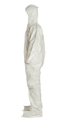 Tyvek Saranex SL Coverall w/ Hood, Boots, Elastic Wrists   pic 1