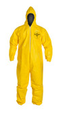 Tyvek QC Coveralls, Serged Seams, with Hood, Elastic Wrists and Ankles (12 per case) ~ Size Small
