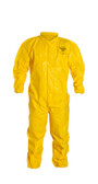Tyvek QC Coveralls, Sewn and Bound Seams with Elastic Wrists and Ankles (12 per case) ~ Size Large