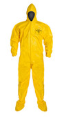 Tyvek QC Coveralls, Sewn and Bound Seams with Hood, Boots and Elastic Wrists (12 per case) ~ Size Medium