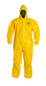 Tyvek QC Coveralls, Sewn and Bound Seams with Hood, Elastic Wrists and Ankles (12 per case) ~ Size Medium