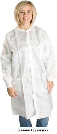 Polypropylene Lab Coats 1.25 oz No Pockets  pic 1