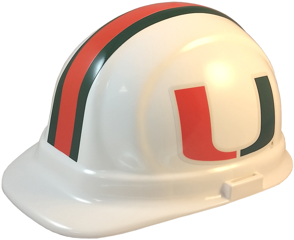 806bc635d87 Miami Hurricanes Hard Hats. See 9 more pictures