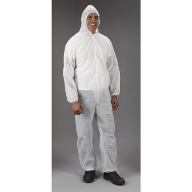 Polypropylene Coveralls w/ Hood, Elastic Wrists, Ankles   pic 2