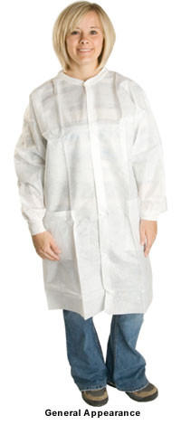 PE Coated Polypropylene Lab Coats with 2 Pockets  pic 1