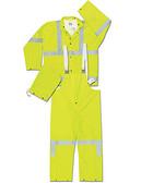 MCR Luminator 38 mil Class III Rain Suit w/ Silver Stripes  pic 1