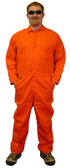 Indura Cotton Orange Flame Resistant Coveralls  pic 1