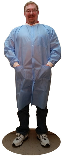 Sunlite Ultra Labcoat w/ 3 Pockets, Knit Collar & Cuffs   pic 3