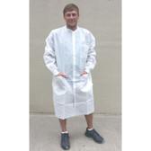 Sunlite Ultra Lab Coat w/ 3 Pockets, Knit Collar & Cuffs   pic 1