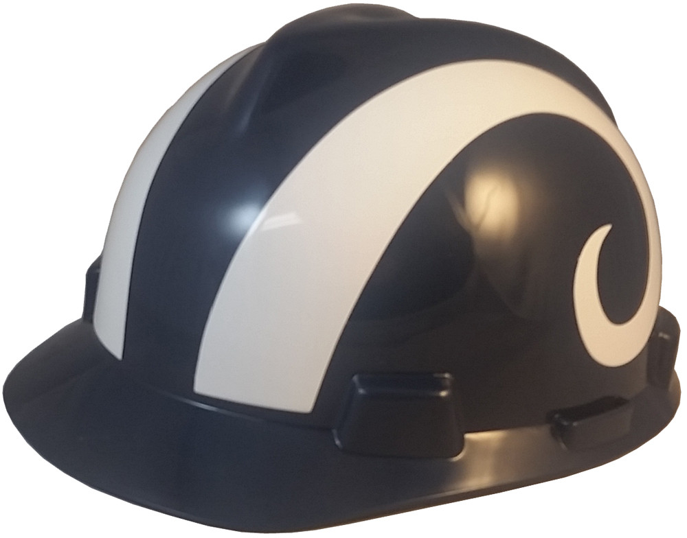 7879e5e6 Los Angeles Rams Hard Hats Cap Style with Fas-Trac III Suspensions