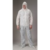 Standard Polypropylene Coveralls ~ With Hood Elastic Wrists and Ankles ~ (5 COUNT SAMPLE PACK)