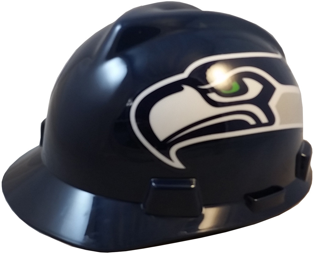Seattle Seahawks Hard Hats Cap Style with Fas-Trac III Suspensions
