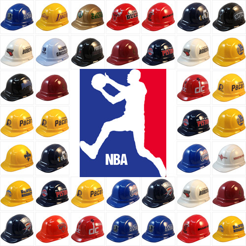 81e3554ddeb All NBA Hard Hats with Ratchet Suspensions
