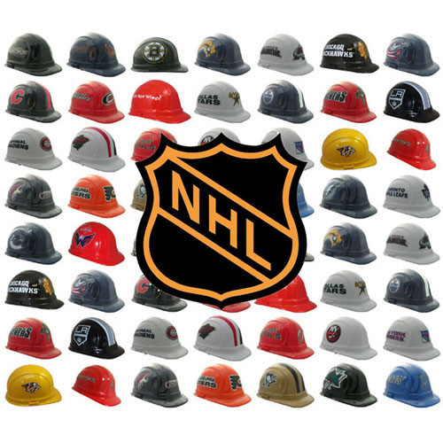 All NHL Hocket Team Hard Hats with with Ratchet Suspensions  c891d289d68