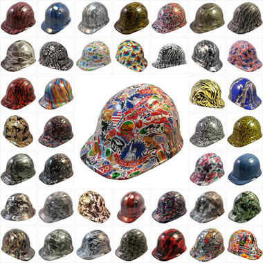 Hydro Dipped Hard Hats Cap Style Design