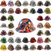 Hydro Dipped Hard Hats Full Brim Design (All Patterns)