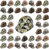 Hydro Dipped GLOW IN THE DARK Cap Style Hard Hats