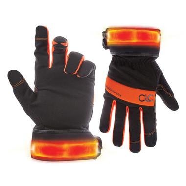 #L-205 Safety Vis Flexgrip Gloves with lights