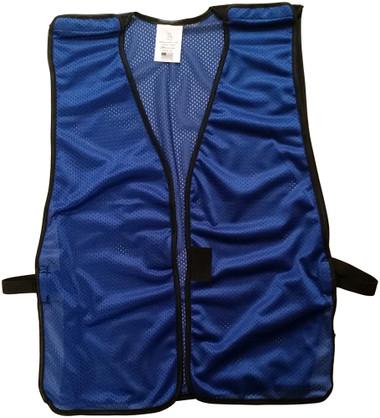 Royal Blue Soft Mesh Plain Safety Vest ~ Front