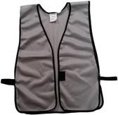Light Gray Soft Mesh Plain Safety Vest