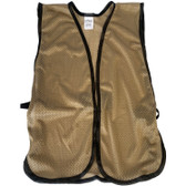 Khaki Soft Mesh Plain Safety Vest