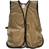Khaki Soft Mesh Plain Safety Vest