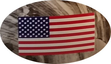 USA Flag Hard Hat Sticker Standard (Stars to Left) close up