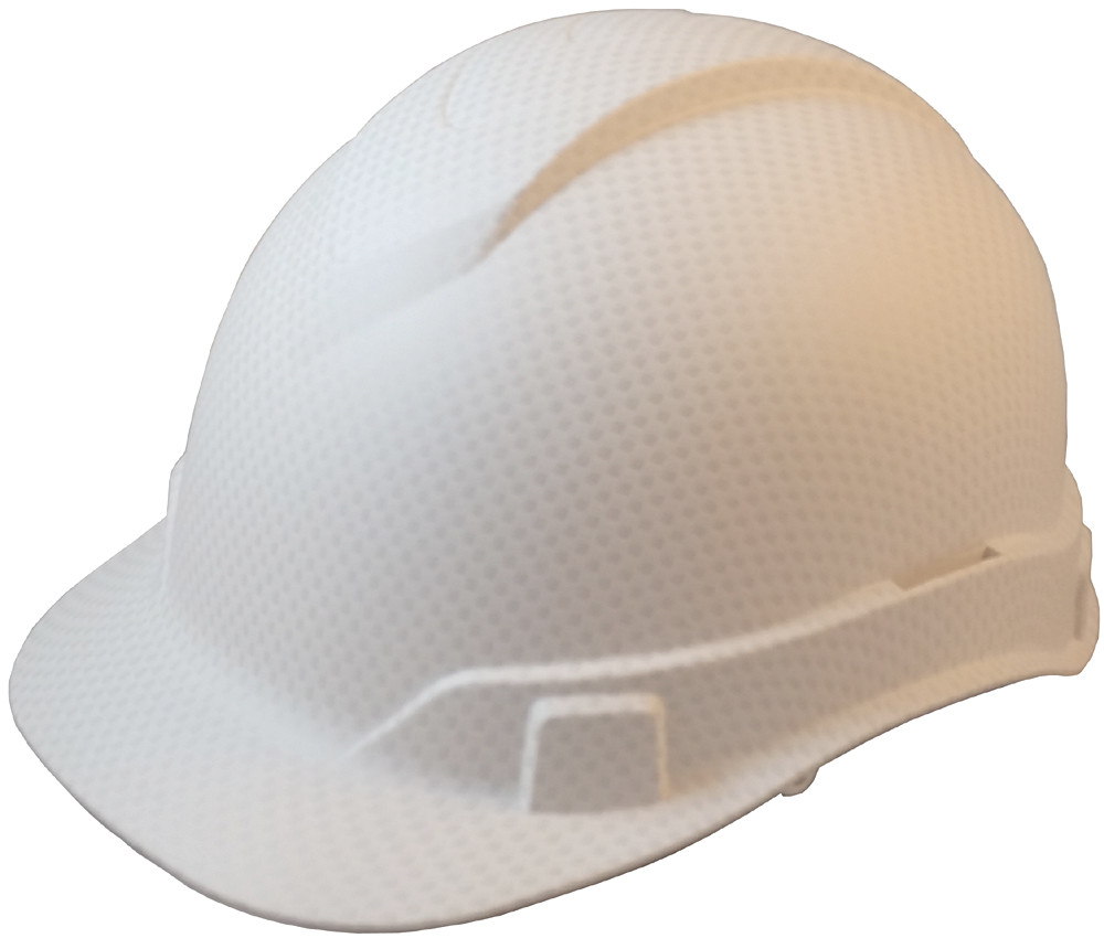 ... 4 Point Suspensions. Oblique View Pyramex Ridgeline Cap Style Hard Hat  with White Graphite Pattern d846fa741f72
