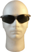 Jackson Nemesis SILVER Frame Safety Glasses with Fog Free Smoke ~ Front View