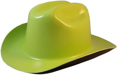 Outlaw Cowboy Hardhat with Ratchet Suspension Hi-Viz Lime  oblique