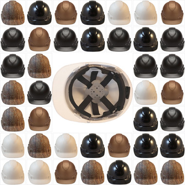 Pyramex Ridgeline Cap Style Hard Hats with Graphite Pattern