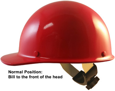 Skullgard Cap Style With Swing Suspension Red - Swing Suspension in Normal Position