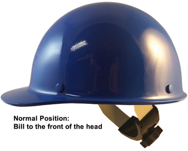 Skullgard Cap Style With Swing Suspension Blue - Swing Suspension in Normal Position