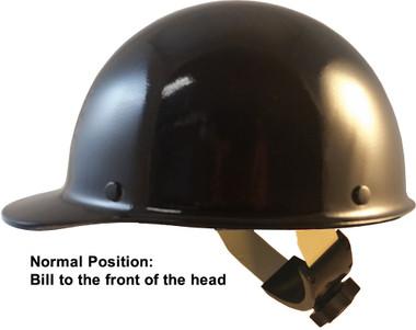 Skullgard Cap Style With Swing Suspension Black ~ Swing Suspension in Normal Position