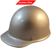 MSA Skullgard  (LARGE SHELL) Cap Style Hard Hats with Ratchet Suspension - Silver   - Oblique View