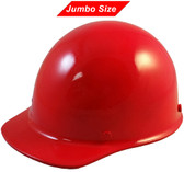 MSA Skullgard (LARGE SHELL) Cap Style Hard Hats with Ratchet Suspension - Red - Oblique View