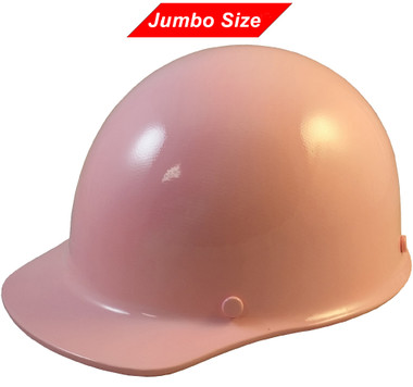 MSA Skullgard  (LARGE SHELL) Cap Style Hard Hats with Ratchet Suspension - Light Pink   - Oblique View
