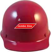 MSA Skullgard  (LARGE SHELL) Cap Style Hard Hats with STAZ ON Suspension - Raspberry  Color - Front View