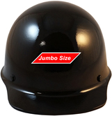 MSA Skullgard (LARGE SHELL) Cap Style Hard Hats with STAZ ON Suspension - Black ~ Front View