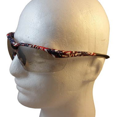 Gateway Old Glory Camo Patriotic Safety Glasses with Indoor/Outdoor Lens - Close Up Detail